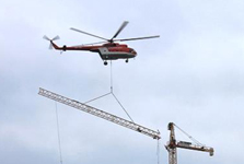 Kranimex deployed tower crane for Krásna Hôrka reconstruction