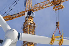 Liebherr tower cranes offer a new concept for the construction of wind turbines