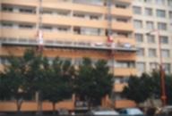 Fasáda panelových domů v Neratovicích